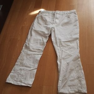 LAUREN JEAN CO. EMBROIDERED JEANS 14 P